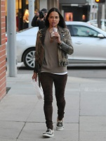 Michelle Rodriguez - Shopping in Beverly Hills 12/19/16