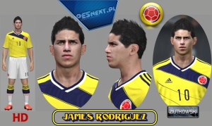 Download PES 2014 James Rodriguez Face by ZIUTKOWSKI