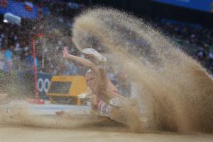 Дарья Клишина, фото 40. Darya Klishina 13th IAAF World Athletics Championship, Daegu, South Korea - 28.08.2011, foto 40