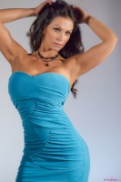 Дениз Милани, фото 5492. Denise Milani Blue Dress 2012 :, foto 5492