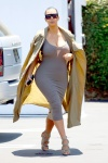 Kim Kardashian shows off her growing belly at Fred Segal July 16-2015 x78
