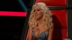 Christina Aguilera The Voice (Season 5) Screen Captures Live Show 14