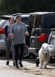 Ariel Winter Walking Her Dog in L.A. - 12/24/15