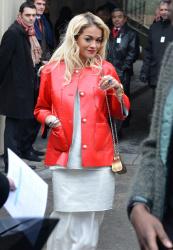 Rita Ora at Paris Fashion Week 22nd January x15