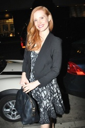 Jessica Chastain - at Mr. Chow in Beverly Hills 1/28/13