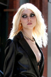 Taylor Momsen - on the set of a music video in NYC 4/9/13