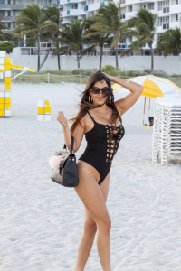 966834af8 Claudia Romani - South Beach in Miami - February 5th 2017
