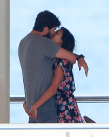 Nina Dobrev and Asustin Stowell enjoy the ocean off the cost the French Riviera (July 26) ZmRWWOC5
