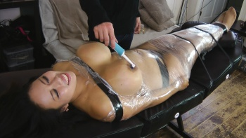 Big boob tickling