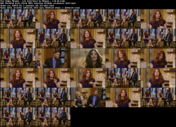 Debra Messing - Live with Kelly & Michael - 1-14-14