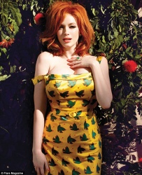 Christina Hendricks - Flare May 2013