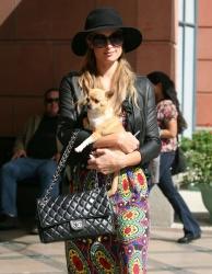 Paris Hilton At Anastasia Salon In Beverly Hills