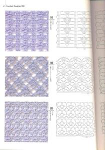 Удобное расположение схем (напротив каждого изображения). 200 узоров для вязания крючком
