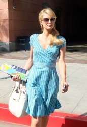 Paris Hilton Treats Herself Spa & Heading To Her Office In Beverly Hills April 30 2013