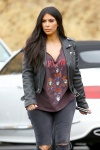 Kim Kardashian as they film scenes for their reality show at a bowling alley July 1-2015 x31