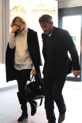 Sean Penn - Sean Penn and Charlize Theron - depart from Rome after a Valentine's Day weekend - February 15, 2015 (37xHQ) Org1Cbns