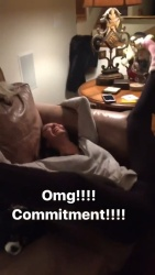 Nina Dobrev - Fake Orgasm from Julianne Hough's Instagram