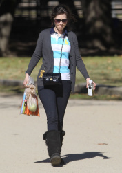 Zooey Deschanel - at a local stable in LA 1/20/13