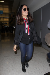 Salma Hayek - At LAX in Los Angeles - February 28th 2017