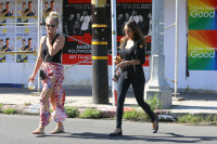 Nina Dobrev with Hilary at Alfred Coffee & Kitchen in West Hollywood (July 29) Hl3kUy44