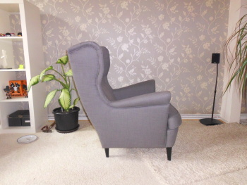 ikea strandmon ohrensessel svanby grau top kaum genutzt. Black Bedroom Furniture Sets. Home Design Ideas