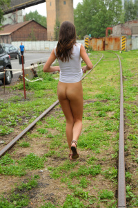 Name Photoset: Alexandra V - 01 - At A Construccion Zone