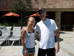 Hayden Panettiere With a Fan in Las Vegas