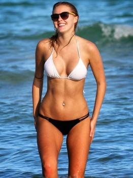 Deimante Guobyte white bikini Miami