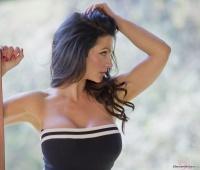 Дениз Милани, фото 5278. Denise Milani Black & White Dress :, foto 5278