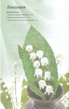 Комнатные цветы из бисера - Изготавлимаем цветы.