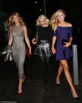 Amy Willerton, Helen Flanagan and Kimberley Garner  - A night out in London - x 9