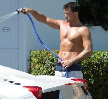 Joanna Krupa Red Bikini car wash Miami
