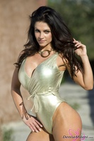 Дениз Милани, фото 4931. Denise Milani Golden One Piece (high res) :, foto 4931