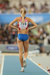 Дарья Клишина, фото 44. Darya Klishina 13th IAAF World Athletics Championship, Daegu, South Korea - 28.08.2011, foto 44