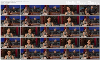 Lucy Liu - Late Show with David Letterman - 4-29-14