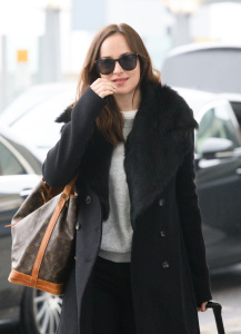 Dakota Johnson - Arrives At Heathrow Airport  - February 10th 2017
