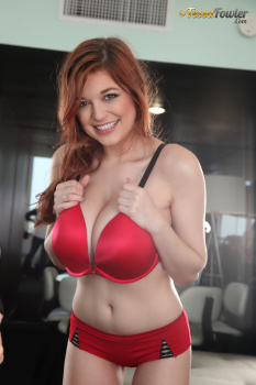 Tessa Fowler - Bra Tryouts Red Bra - Set 1