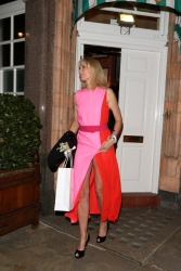 Joely Richardson - leaving the Dior party at Harry's Bar in London 3/14/13