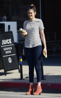 Nina Dobrev heads to a medical building chatting on her cell (June 03) M4QfwG30