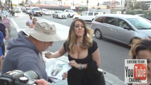 Joely Fisher greets fans at the Cabaret Opening Night at Pantages Theatre in Hollywood 07/21/16