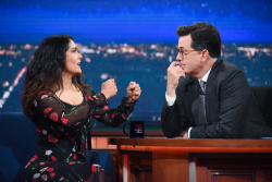 Salma Hayek - The Late Show with Stephen Colbert: June 6th 2017
