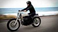 custom-built retro-style Triumph