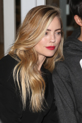Melissa George -                 Leaving ''The Project'' Melbourne August 10th 2017.