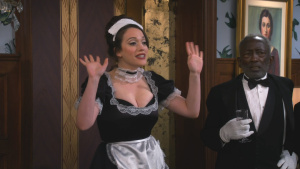 Kat Dennings Dressed as a French Maid in 2 Broke Girls S05 E07