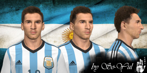 Download Lionel Messi Face by So-Yul For PES 2014