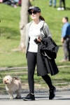 Jessica Chastain - out walking her dog in Central Park 4/11/17