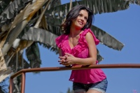 Дениз Милани, фото 5822. Denise Milani Out In Pink :, foto 5822
