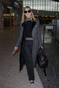 Rosamund Pike - At Heathrow Airport  - February 3rd 2017