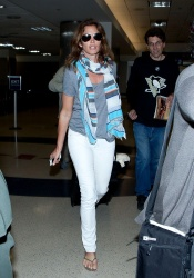 Cindy Crawford - at LAX Airport 3/1/13