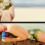 Yvonne Strahovski - Sobe Body Paint Commercial 2012
